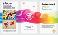 US Legal professional trifold brochure front template