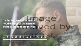US Memorial Day Poster Template