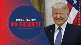 US President Congratulations Cover Digital Display (16:9) template