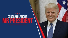 US President Congratulations Cover Ecrã digital (16:9) template