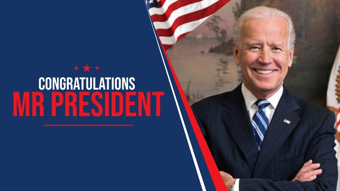 US President Congratulations Cover Digitale display (16:9) template