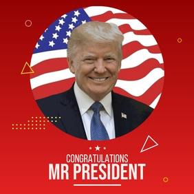 US President Congratulations Post template