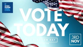 US Presidential Election Day Template Video Sampul Facebook (16:9)