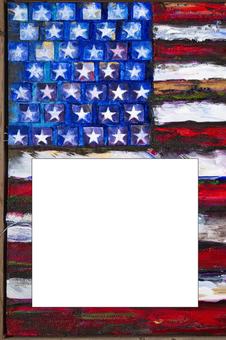 USA Flag Party Prop Frame Template | PosterMyWall