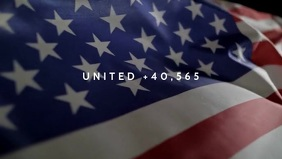 Usa Flag + who died in Covid-19 Video Poster template