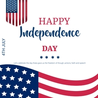 Usa Independence day Instagram na Post template