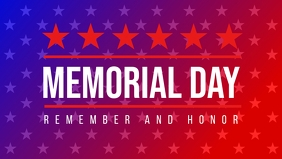 USA Memorial Day Template Facebook 封面视频 (16:9)