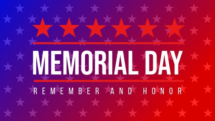 USA Memorial Day Template Facebook Cover Video (16:9)