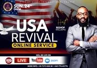 USA revival Postcard template
