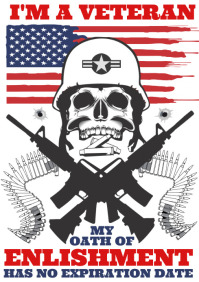 USA Veteran Tshirt template free A3