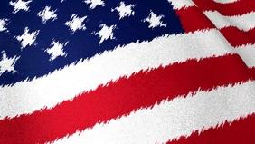USA waving Flag Video Template