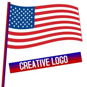 USE AMERICA AMERICAN FLAG ICON LOGO