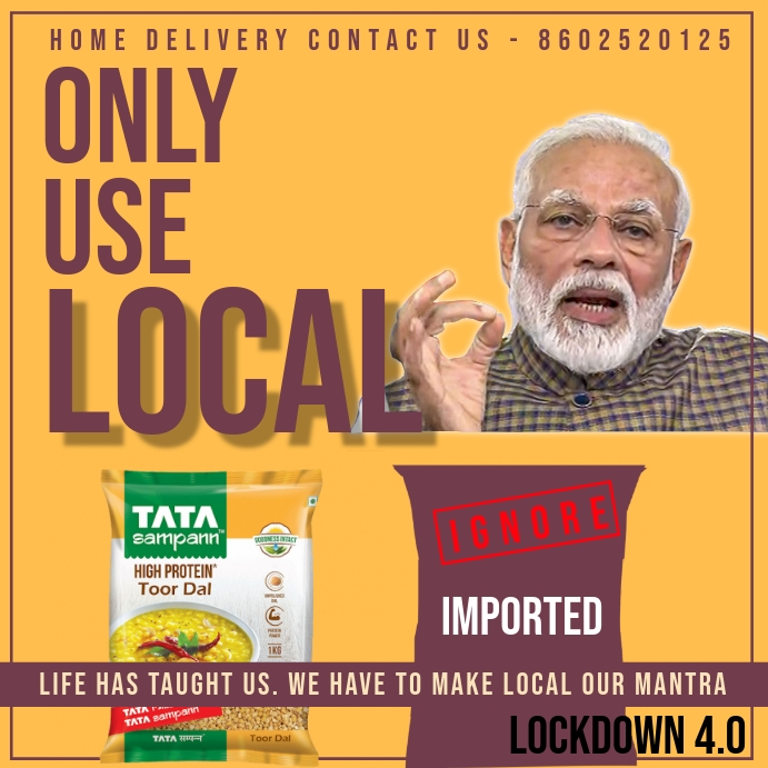 Use Local Food in India Template