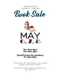 used book sale festival flyer template