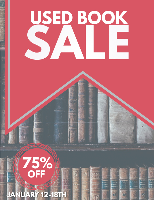used book sale template