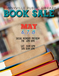 used book sale flyer template