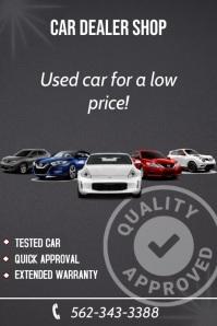 Used Car Dealer Shop Poster Flyer & Template