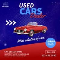 Used Cars Dealer Video Ad Quadrado (1:1) template