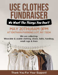 Used Clothes Fundraiser Flyer