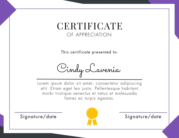 v2 Geometry certificate template Рекламная листовка (US Letter)