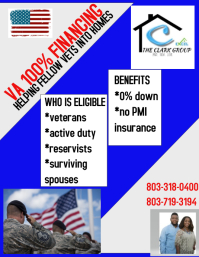 VA Home Loans Flyer (US Letter) template