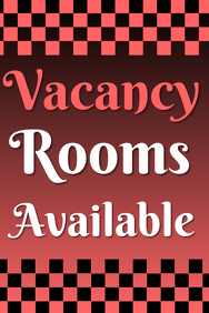 Vacancy Rooms available - red template