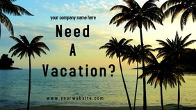 Vacation Ad Pantalla Digital (16:9) template