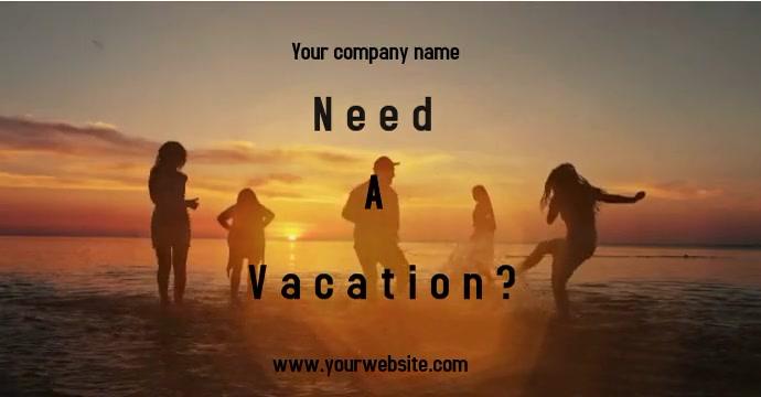 Vacation Ad Anuncio de Facebook template