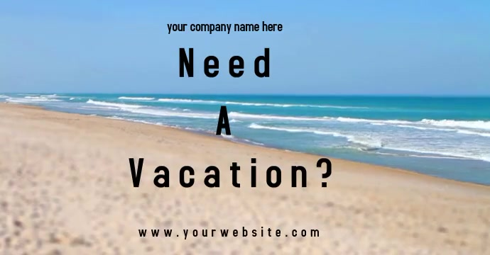 Vacation Ad Facebook-annonce template