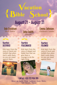 Vacation Bible School Poster Template