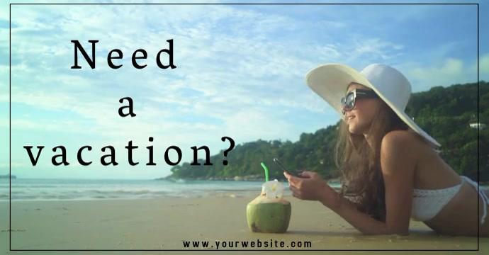 Vacation โฆษณา Facebook template