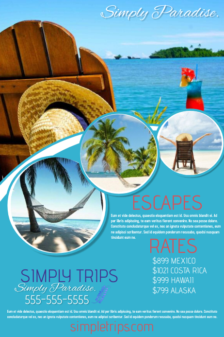 Vacation Poster template