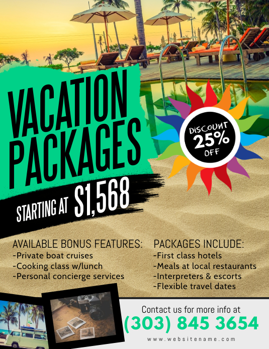 Vacation Packages Flyer