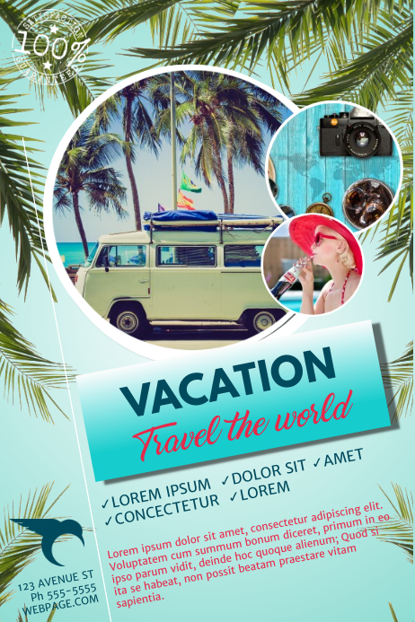 Vacation Travel Flyer Template For Travel Agency Postermywall