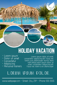 vacation traveling flyer template