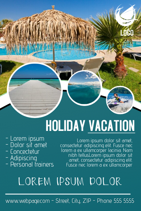 copy of vacation traveling flyer template