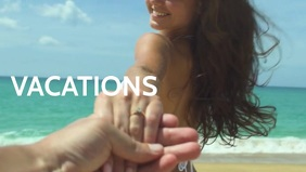 Vacations video poster template