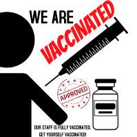 Vaccination vaccine vaccinated Instagram-bericht template