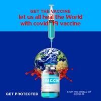 vaccine covid 19 ii Publicação no Instagram template