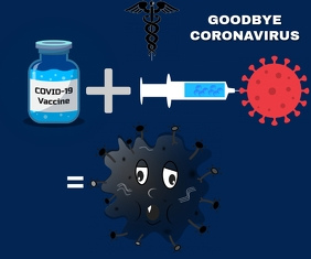 VACCINE KILL CORONAVIRUS TEMPLATE Rettangolo medio