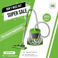 Vacuum cleaner sale ad Publicación de Instagram template