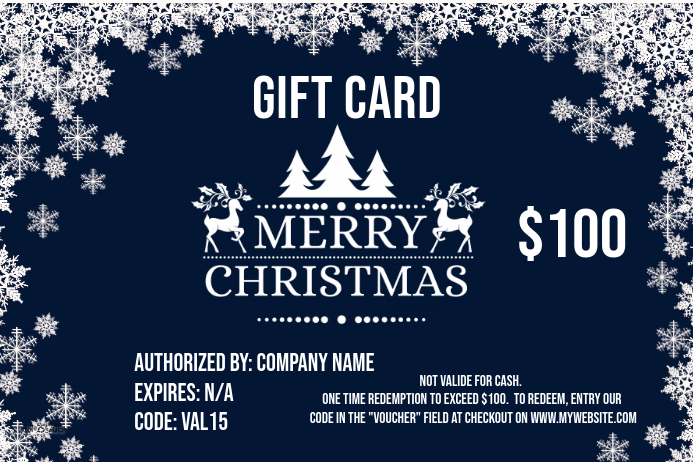 Christmas Gift Card Poster.Valentiens Gift Card Template Postermywall