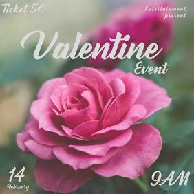 Valentina day Instagram post templite event