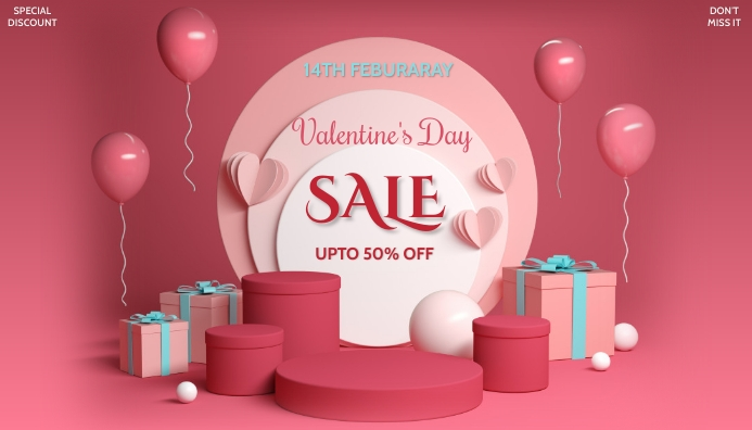 valentine's, event, romantic 博客标题 template