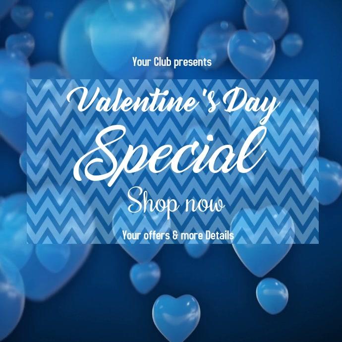 valentine's, event, romantic โพสต์บน Instagram template