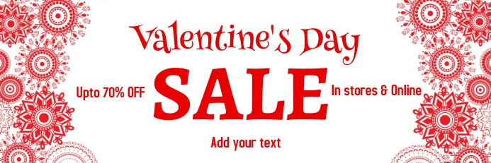 valentine's, romantic, event Banner 2 x 6 fod template