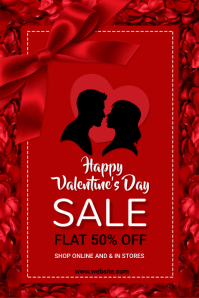valentine's, romantic, event Poster template