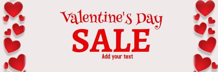 valentine's, romantic, event Spanduk 2' × 6' template