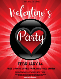 valentine's, romantic, event Рекламная листовка (US Letter) template