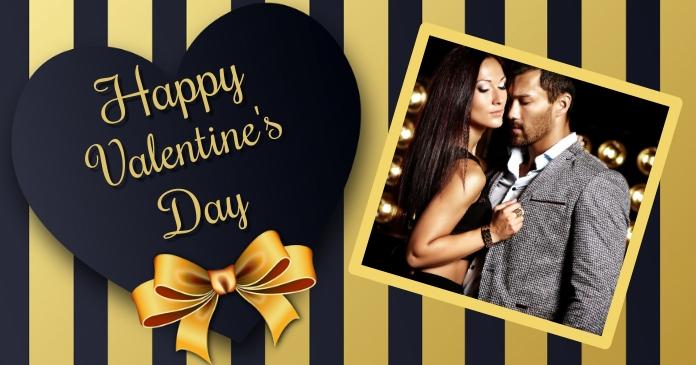 valentine's, romantic, event delt Facebook-billede template